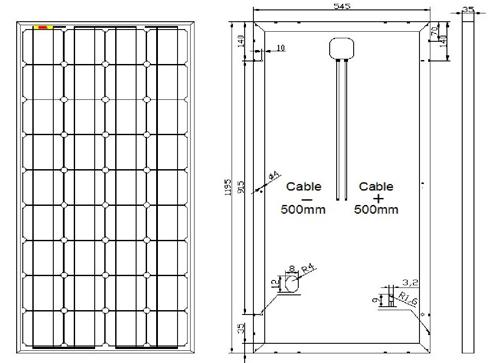 panneau solaire photovoltaique 100w 12v monocristallin nx slim. Black Bedroom Furniture Sets. Home Design Ideas