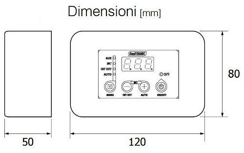 Dimensioni del Termostato Digitale DualTronic