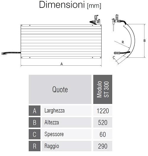 Dimensioni del Modulo ST 300