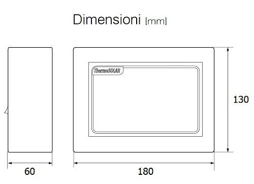 Dimensioni del ThermoSolar Box 200