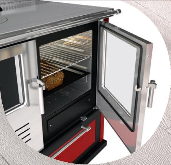 Forno Inoz con Sistema Oven Hot della Cucina a Legna Gemma