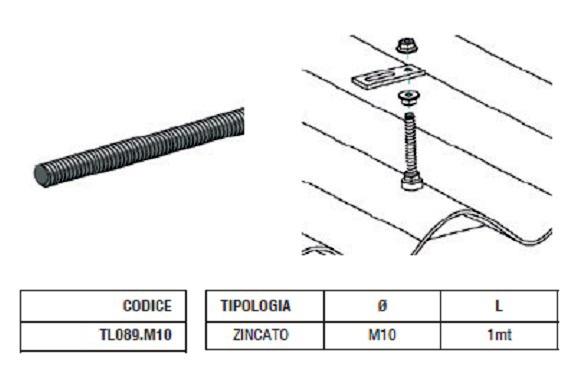 Barra Filettata TL089.M10