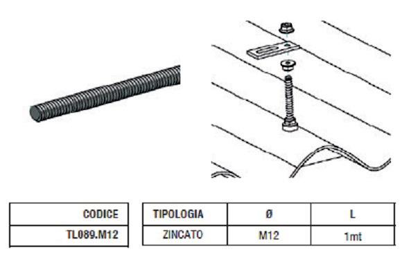 Barra Filettata TL089.M12