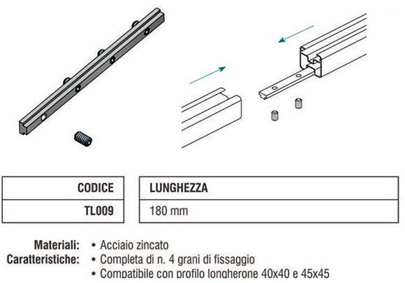Barretta di Allineamento Longherone TL009