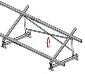 Esempio di Struttura che utilizza Controvento a Crociera in Alluminio da 1500 a 2000 mm TL012.02