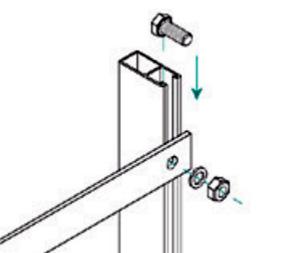Esempio di Struttura che utilizza Controvento a Crociera in Alluminio fino a 1500 mm TL012.01
