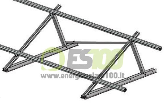Esempio di montaggio di un Controvento per Supporti Fissi in Alluminio TL086