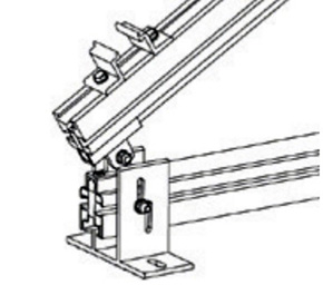 Esempio di Struttura che utilizza l'Elemento di Ancoraggio su Piano in Alluminio TL008