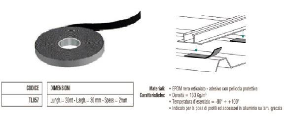 Nastro Guaina Adesivo in EPDM TL057