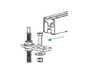 Esempio di montaggio di una Piastrina per Elementi Filettati TL23.M10