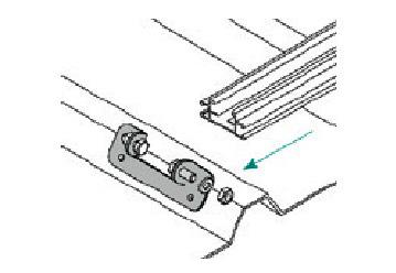 Esempio di montaggio di una Piastrina per Profilo Longherone con Cave Laterali TL025