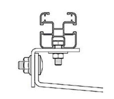 Esempio di Fissaggio del Profilo Longherone 45X45 mm in Alluminio Lungo 3,15 mt TLPS4575.315