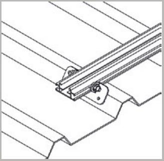 Esempio di Struttura con Profilo Longherone H24 con Cave Laterali in Alluminio di 3,15Mt TLPS4712.315