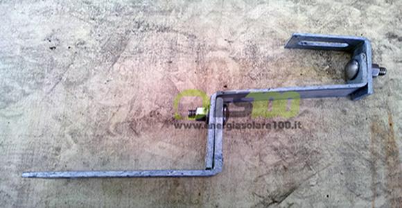Staffa per Coppo in Acciaio Zincato con Doppia Regolazione TL017.ZN