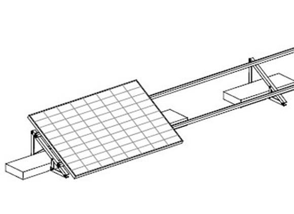 Esempio di Struttura con Supporto Triangolare in Alluminio Fisso a 30° Modulo in Orizzontale TL085