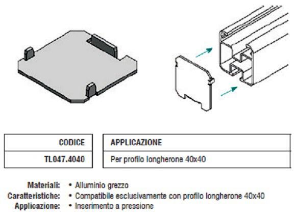 Tappo Copriforo TL047.4040