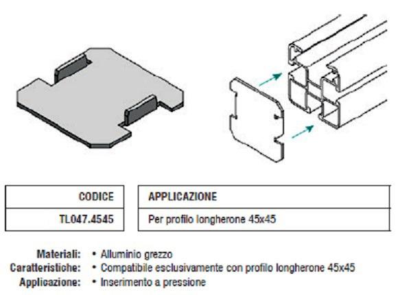 Tappo Copriforo TL047.4545