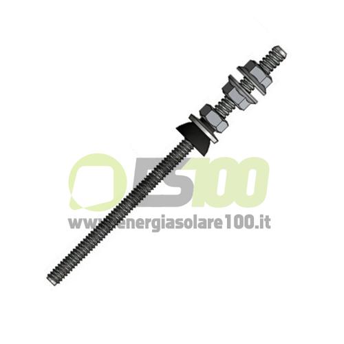 Vite Autofilettante  TL082.A50.160 in Acciaio Inox A2 Doppio Filetto per Metallo
