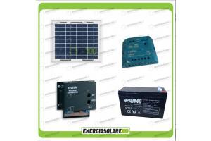 Kit fotovoltaici con pannello solare e convertitore multitensione 3-6-7,5-9-12 V