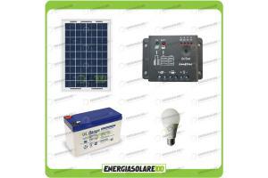 Kit solare per 3 ore di illuminazione