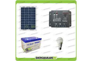 Kit solare per 6 ore di illuminazione