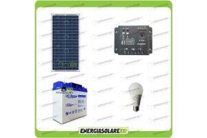 Kit solare per 8 ore di illuminazione