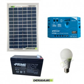Solar lighting kit for country house- shed- stable - English