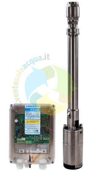 Schema Elettrico Pompa Sommersa Pozzo : Pompa sommersa solare lorentz ps200 50m 0.9 m3 h 80 300w 24 48v
