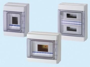 Centraline scatole stagne a parete IP65 Art. FG14508 - 4/8 moduli - mm. 215x200x105 - 12 Watt