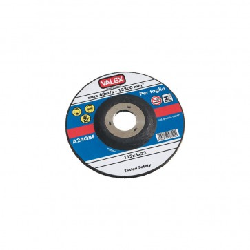 Disco abrasivo a centro depresso da taglio 230x3x22 - max 80 m/s Valex