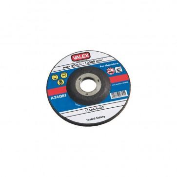 Disco abrasivo a centro depresso da sbavo 230x6,4x22 - max 80 m/s Valex