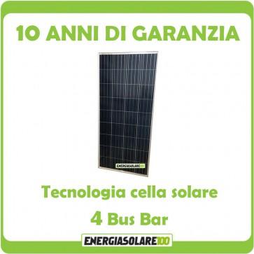 Pannello Solare Fotovoltaico 150W 12V Camper Barca Giardino impianto Baita + Ebook