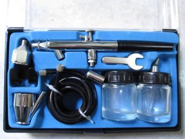 Kit Mini aerografo Penna due serbatoi in vetro Valex modellismo decorazioni