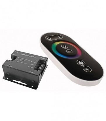 CONTROLLORE STRISCE LED RGB CONTROLLER TELECOMANDO TOUCH RF RADIO 12/24 DC