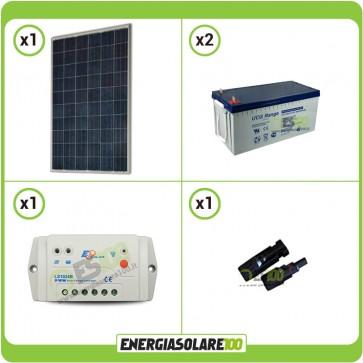 Kit Starter Pannello Solare KA 250W 24V Batteria Gel 200Ah Regolatore PWM 10A LS1024B