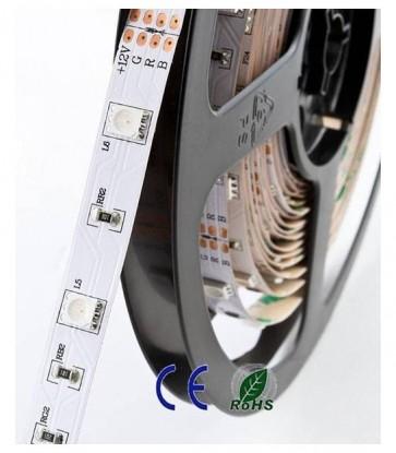 5 METRI STRISCIA 150 LED 5050 SMD RGB LUCE RGB ROSSO VERDE BLU PER INTERNO IP20 12 V DC