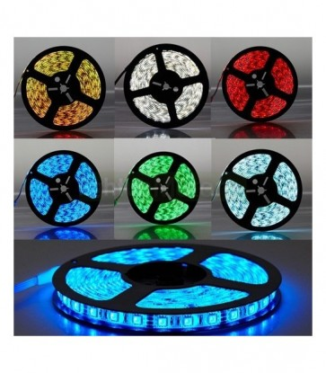 5 METRI STRISCIA 300 LED 5050 SMD RGB LUCE RGB ROSSO VERDE BLU PER INTERNO IP20 12 V DC