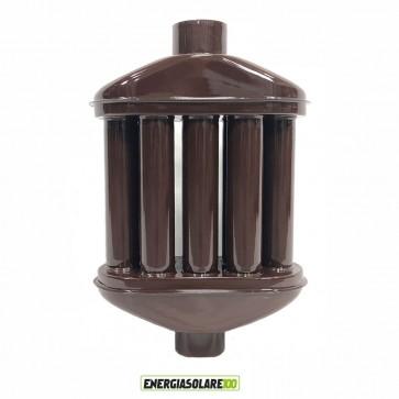 Scambiatore di Calore Smantati Porcellanati diametro 10cm  H50cm colore Marrone