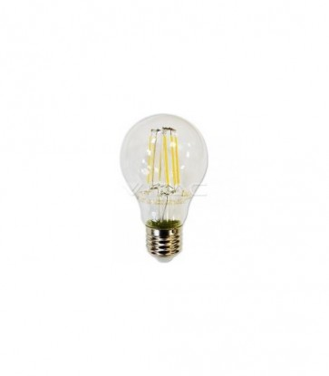 LAMPADINA LED E27 A67 FILAMENTO 8W BIANCO CALDO 300 GRA VT-1989