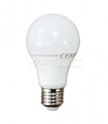 LAMPADINA LED 10 W E27 LUCE BIANCA A SCELTA ANG. 200° PARI A 60 WATT BULB A60