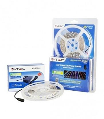 KIT STRIP LED 5050 IP20 6000K 300 LED CON ALIMENTATORE V-TAC