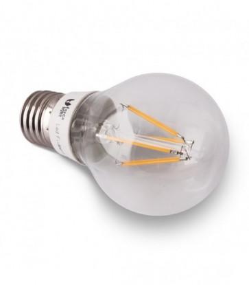 LAMPADINA LED 6 W E27 6 LED FILAMENTO LUCE BIANCO CALDO WARM WHITE  ANGOLO 360°