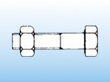 Bulloni testa esagonale con dado