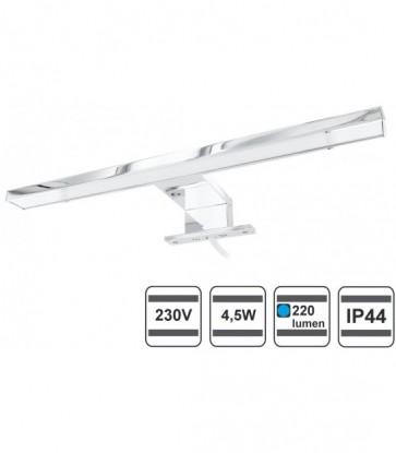 Lampada a LED, per specchio, di alluminio, IP44 - 4,5 W, 220 lumen, 305 mm, 230 V (Luce a scelta)