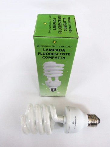 Lampada fluorescente compatta a spirale 25Watt 12V a Luce Fredda