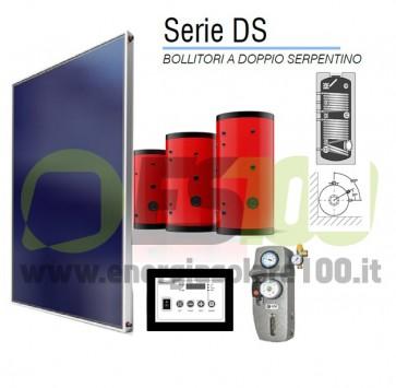 Kit FOR-S Collettore Piano 4mq + 200Lt Serbatoio 1Via + Accesor