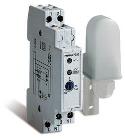 Interruttore Crepuscolare 220V 16A 1 DIN regolabile