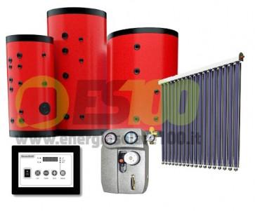Kit FOR-U Collettore Piano 16.5m + 200L Serbatoio 2Vie + Accesor