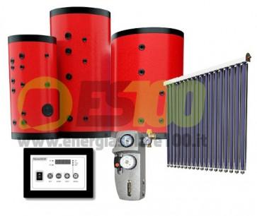 Kit FOR-U Collettore Piano 3.3m + 200L Serbatoio 1 Via + Accesor