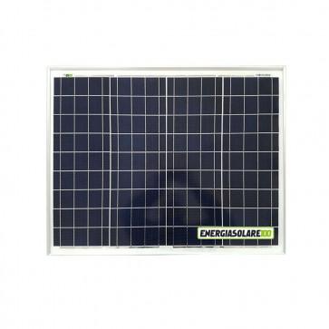 Pannello Solare Fotovoltaico 50W 12V Camper Barca Giardino impianto Baita